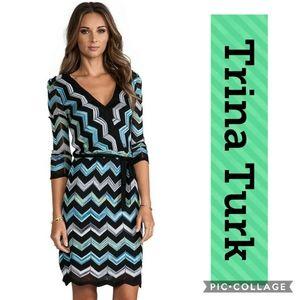 Trina Turk Harbor Dress Multicolor M